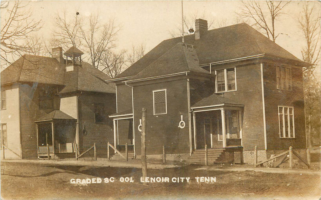 Lenoir City - Tennesee - TN - Real Photograph Postcard - Graded School