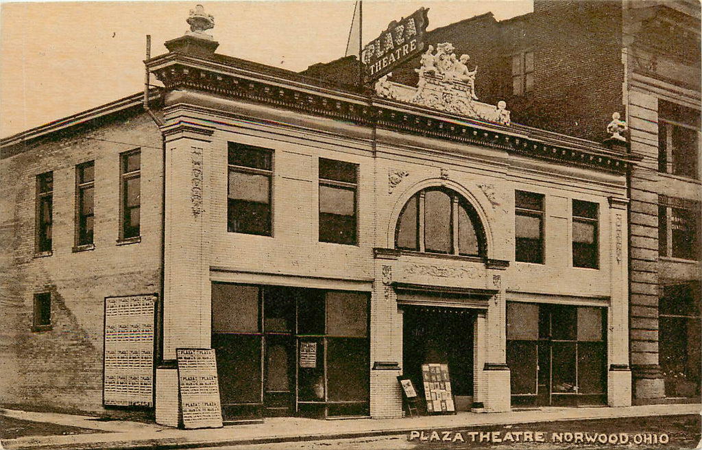 Norwood - Ohio - Plaza Theatre - Original Postcard