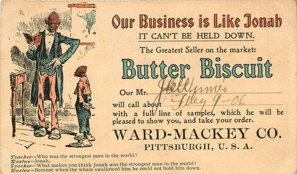 Pittsburgh - PA - Ward Mackey - Butter Biscuit - Rastus - Black Americana