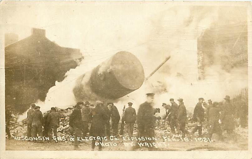 Racine - Wisconsin - WI - Gas & Electric Co Explosion - Feb 1921 - RRPC
