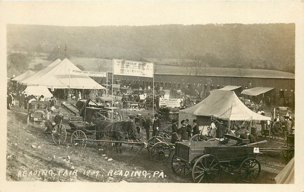 Reading Fair - PA - Lessing  - Klopp & Kalbach - International Harvester - Exhibitors - RPPC