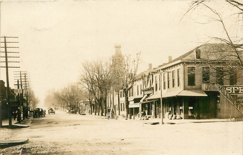 Rising Sun Indiana - Business Street - Real Photograph 1911 - IN