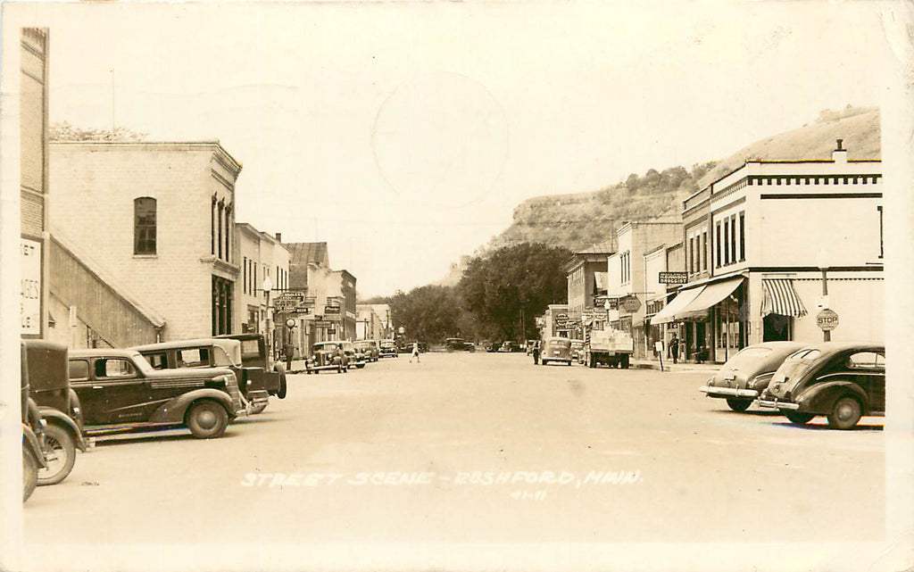 Rushford - MN - Minnesota 1948 Street Scene - Real Photograph