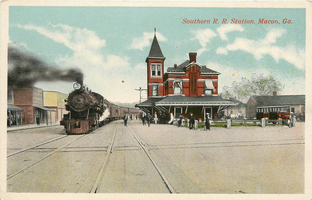 Macon Georgia - Southern Railroad - Depot - Station - Train