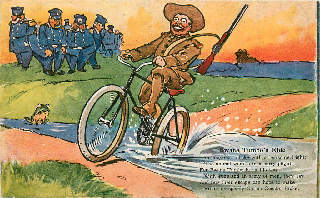 Teddy Roosevelt - Bwana Tumbo - Corbin Coaster Brake Bicycle Adv