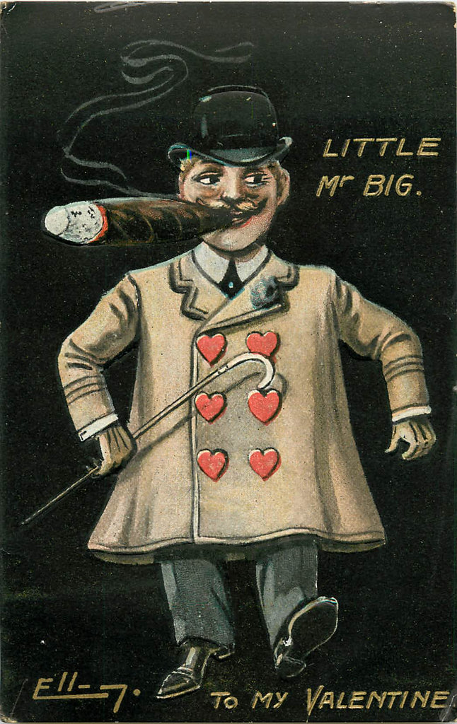 Valentine - Signed Art - Ellam - Little Mr Big - Giant Cigar