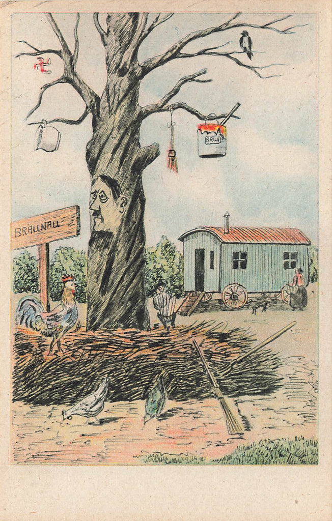Hitler - Genealogical Tree - Braunau - Political Postcard - WWII Era