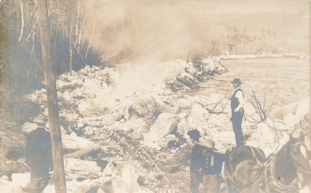 North River - Warren County NY - Adirondacks - Blasting Ice - Garnet Co. - RPPC