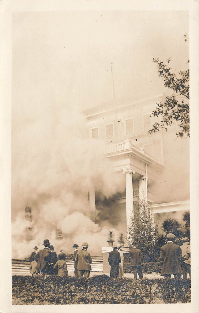 Aiken SC South Carolina  - Hotel Park FIRE 1913 - RPPC