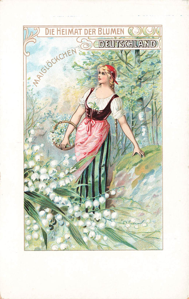 Enrilo Coffee - Art Nouveau -  German flowers - maiglockchen - adv