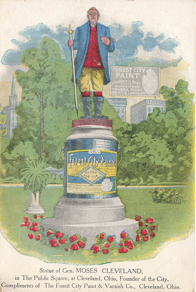 Forest City Paint Advertising - Gen. Moses - Cleveland Ohio