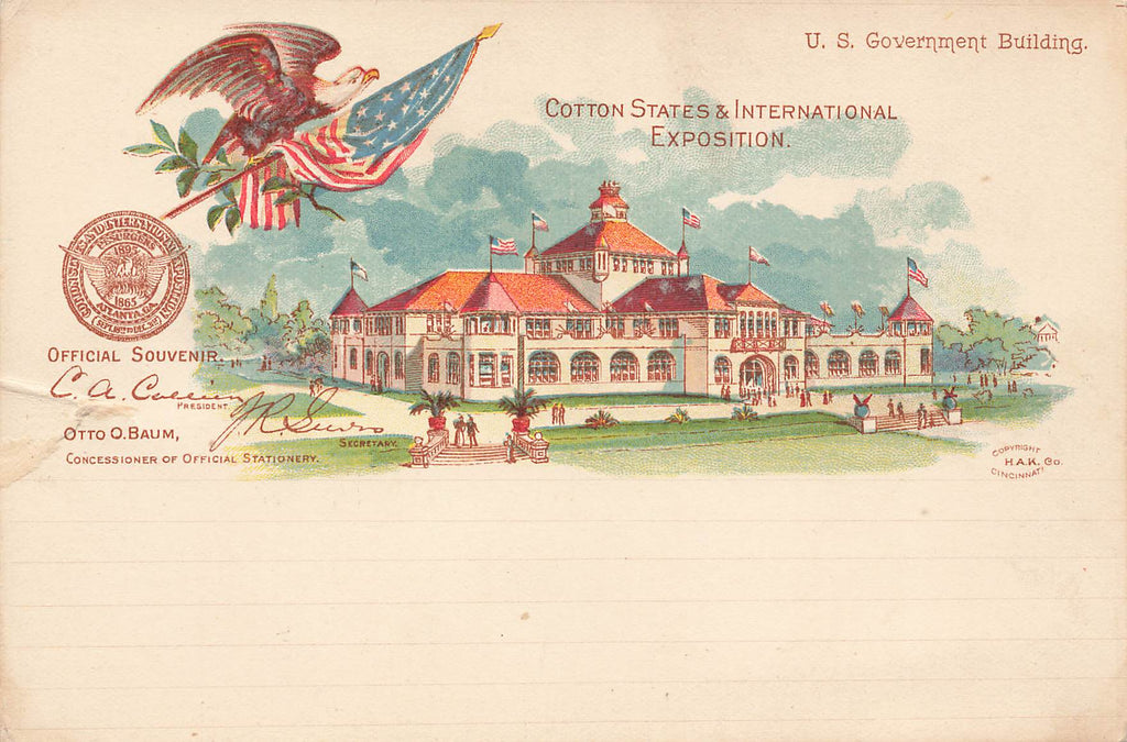 Cotton States Exposition - 1895 - Atlanta Georgia GA - Govt Bldg