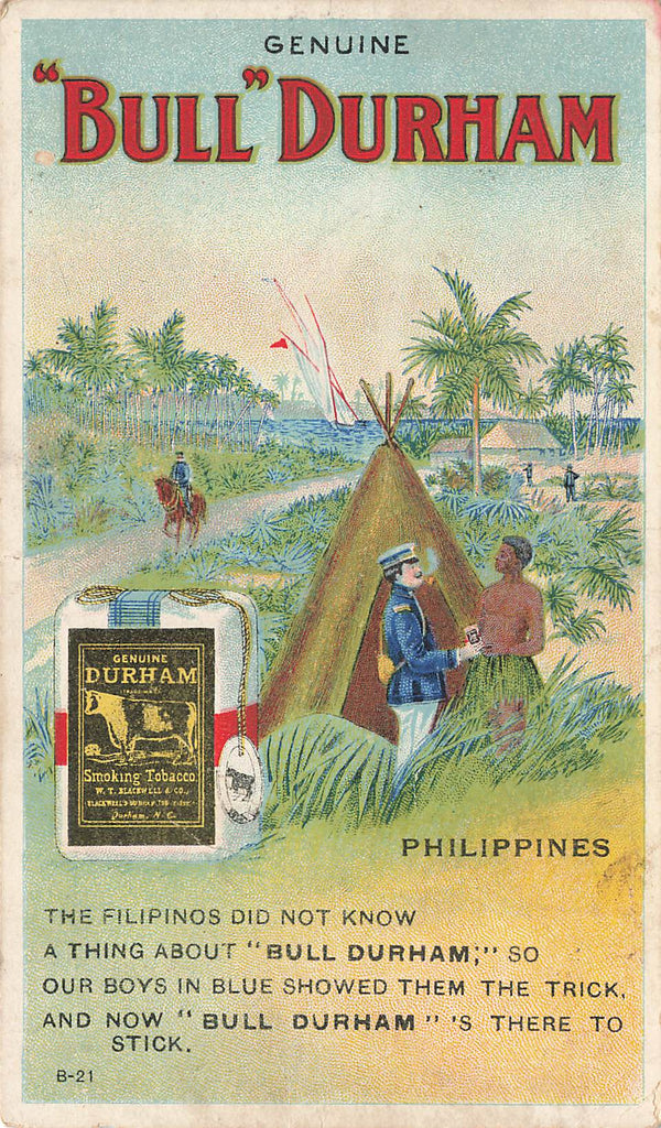 Bull Durham Tobacco Advertising Postcard - Philippines - Tee Pee