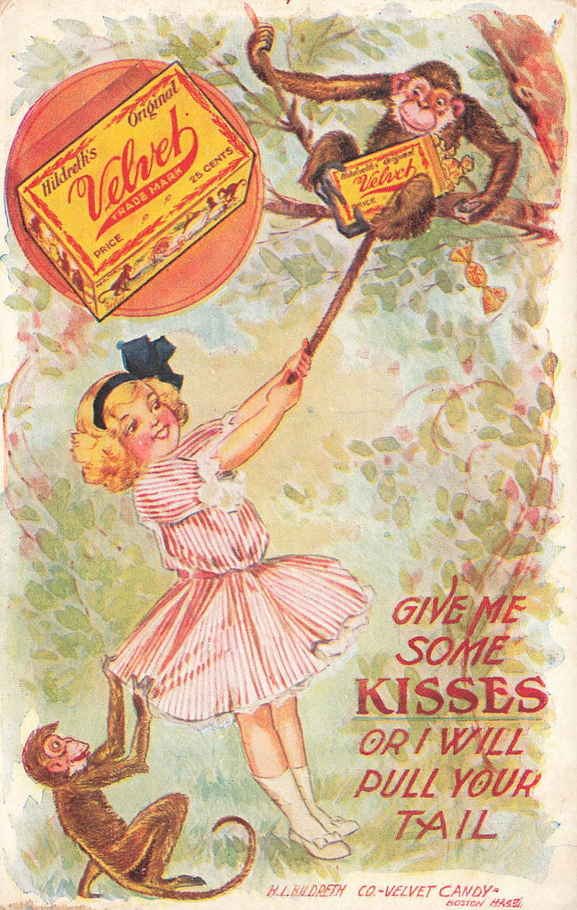 Velvet Kisses Candy - Boston MA - Monkey Girl - Advertising