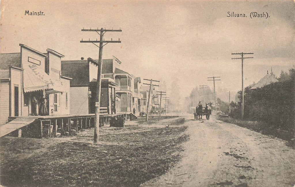 Silvana WA - Snohomish County Washington - Main Street 1909