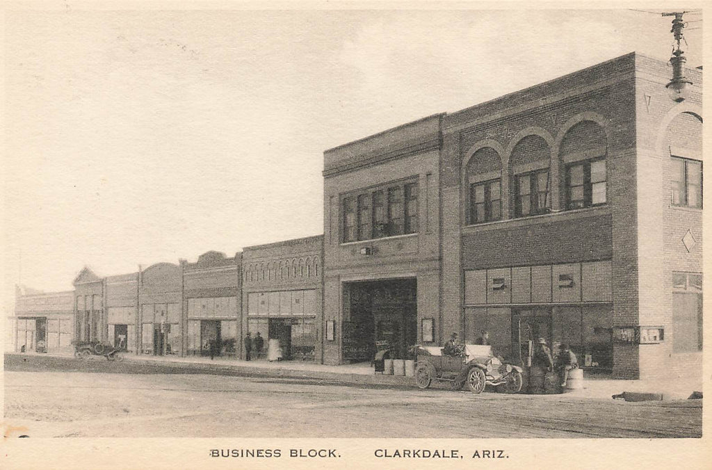 Clarkdale AZ - Arizona - Business Block - Albertype
