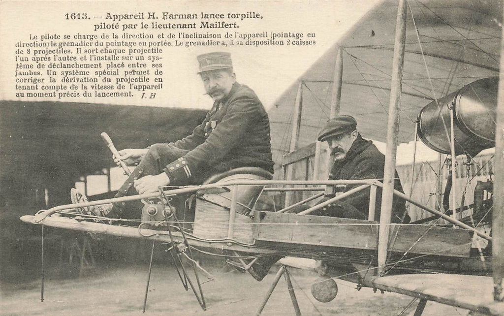 Farman Airplane - Mailfert Pilot - Early Aviation - France