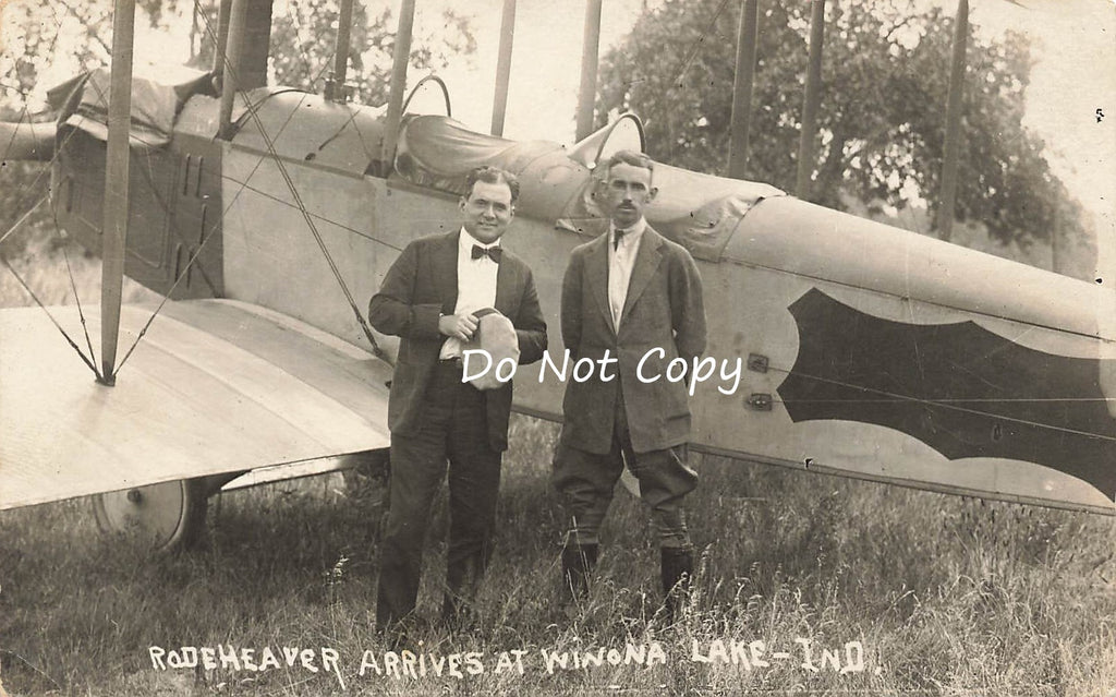 Rodeheaver - Merrill - Aviation Disaster - Winona Lake Indiana - RPPC