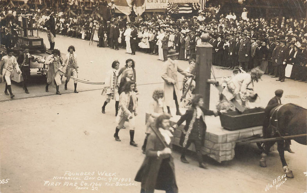 Philadelphia PA - Founders Week - Parade - Real Photo - Rau - 1908
