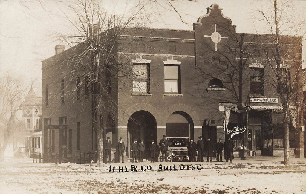 Melvin IL Illinois - IEHL Bank Building - 1908 - Real Photo