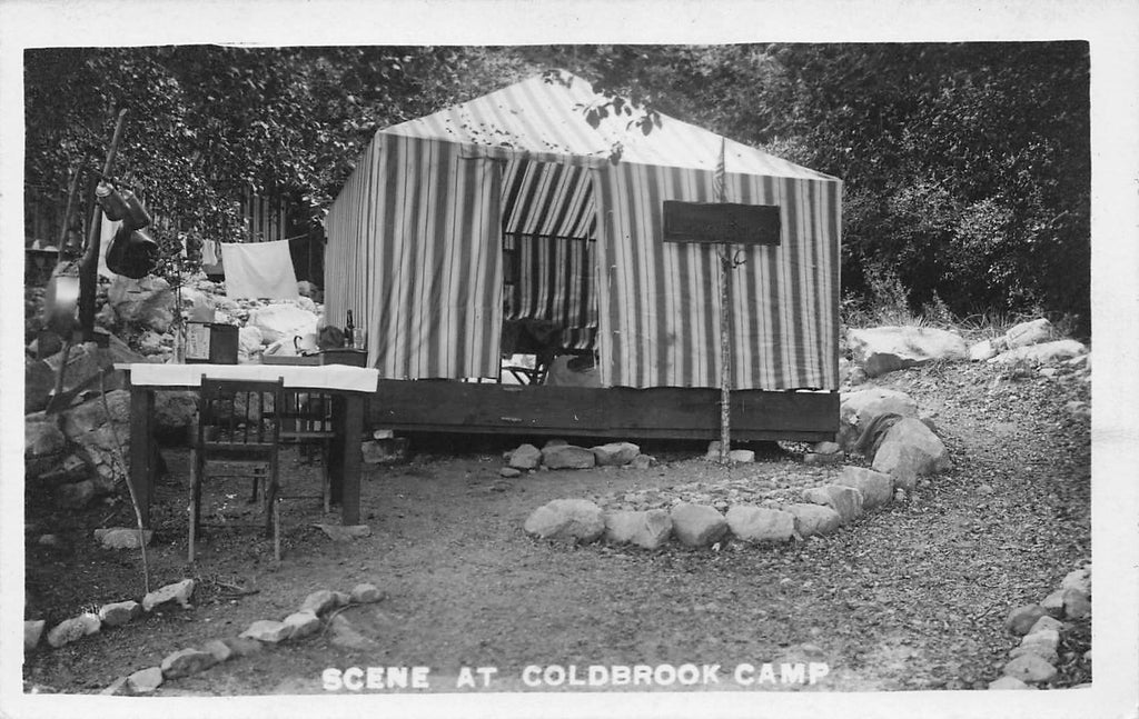 Coldbrook Camp - Claremont CA - Willard Photo - platform tent