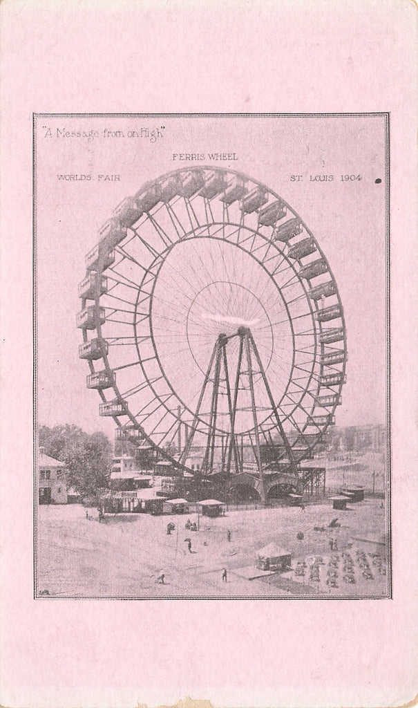 St Louis MO - 1904 Worlds Fair - Ferris Wheel - scarce card