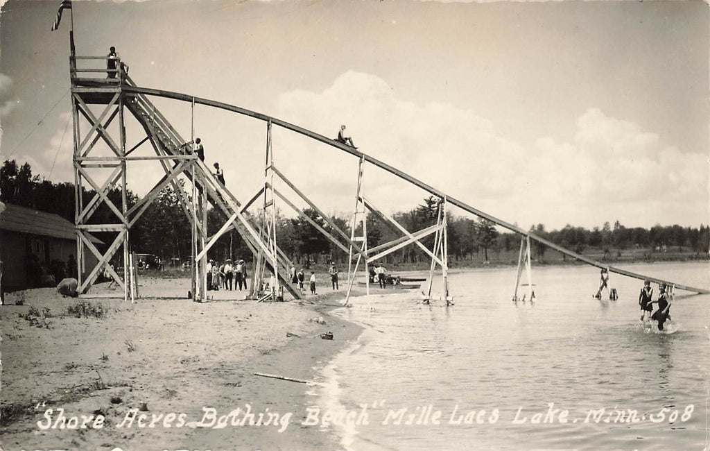 Mille Lacs Lake - MN Minnesota - Shore Acres Beach Water Slide Photo