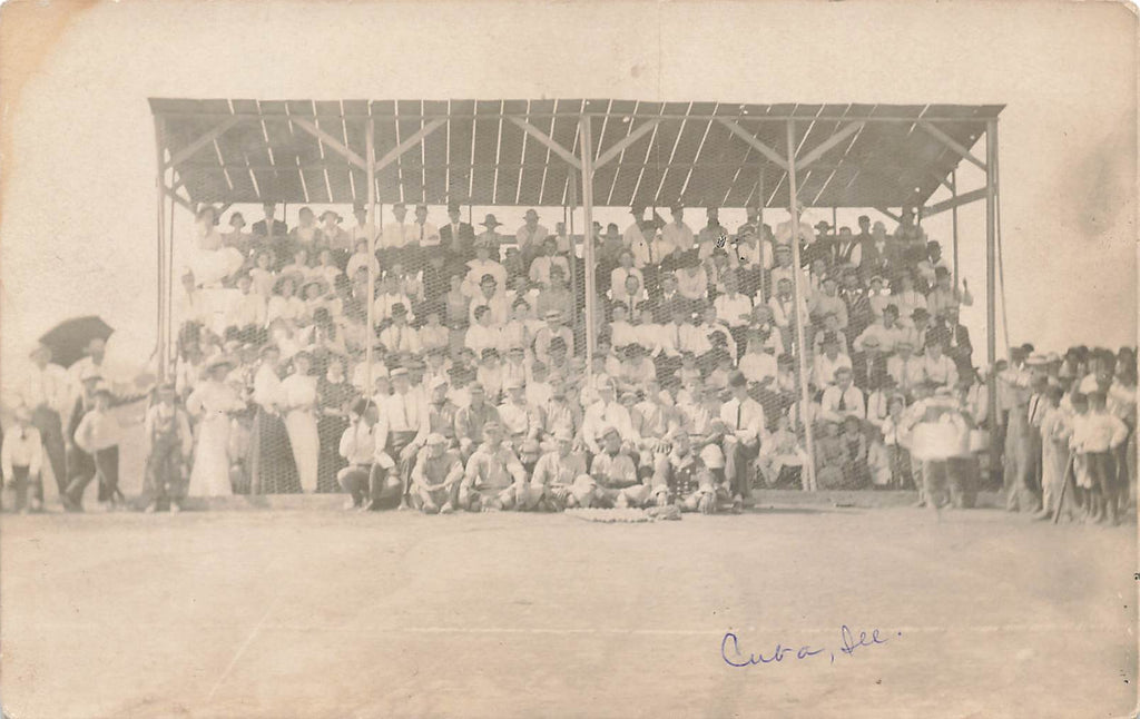 Cuba IL Illinois - Baseball - Real Photo - Early postcard