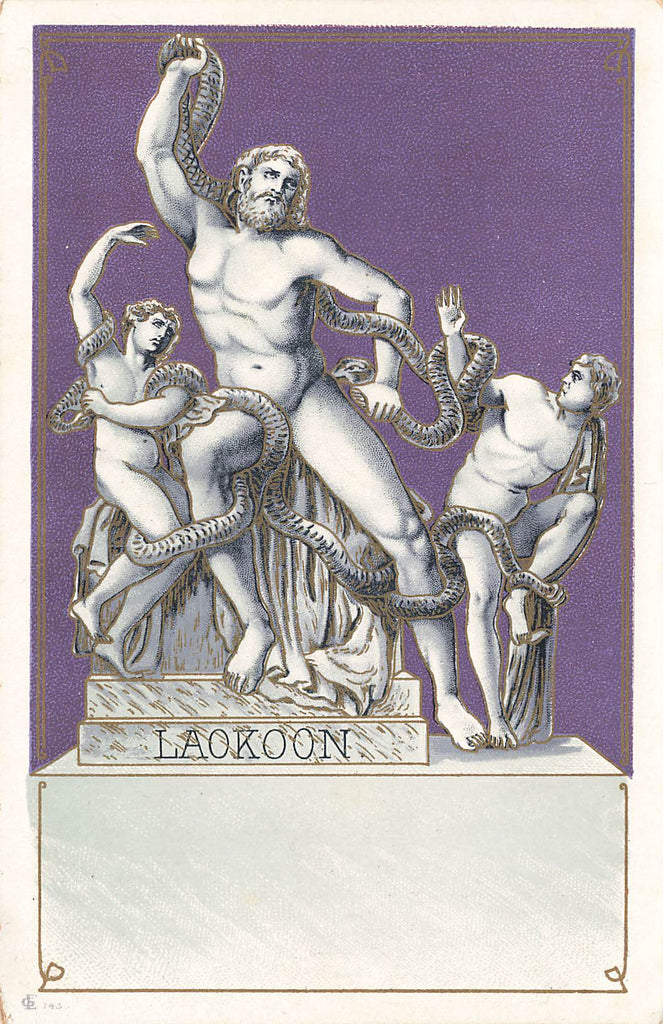 Laokoon - Laocoon - Greek Mythology - Art Nouveau Postcard - Nice