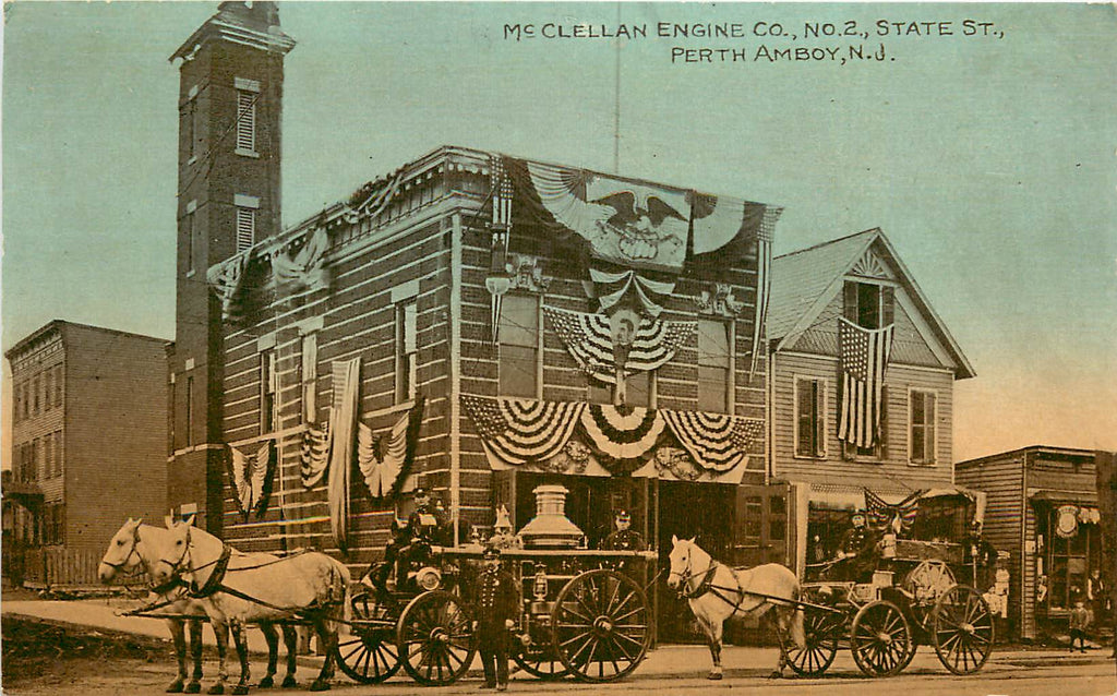 Perth Amboy - NJ - McClellan Engine Co - Fire Department - Horse Drawn