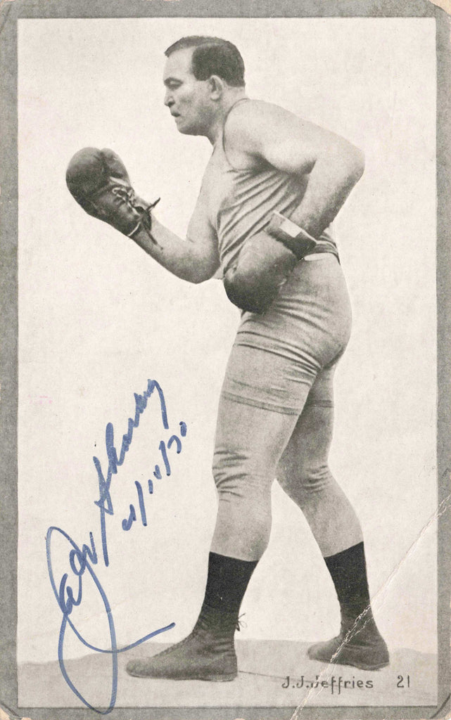 Jack Sharkey Autograph - Jim Jeffries - Boxing