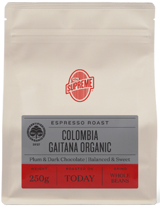 Coffee Supreme Colombia Organic GROUND