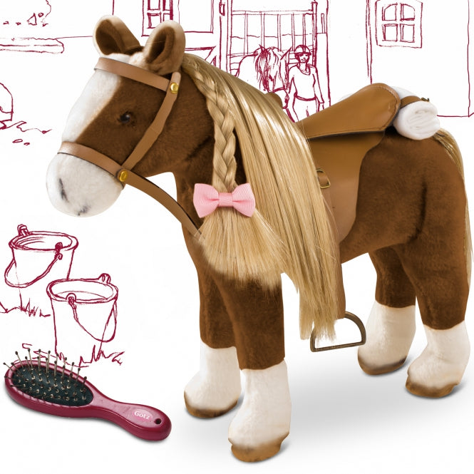 Caballo de peinar Brown 37 cm  Beauty Goetz