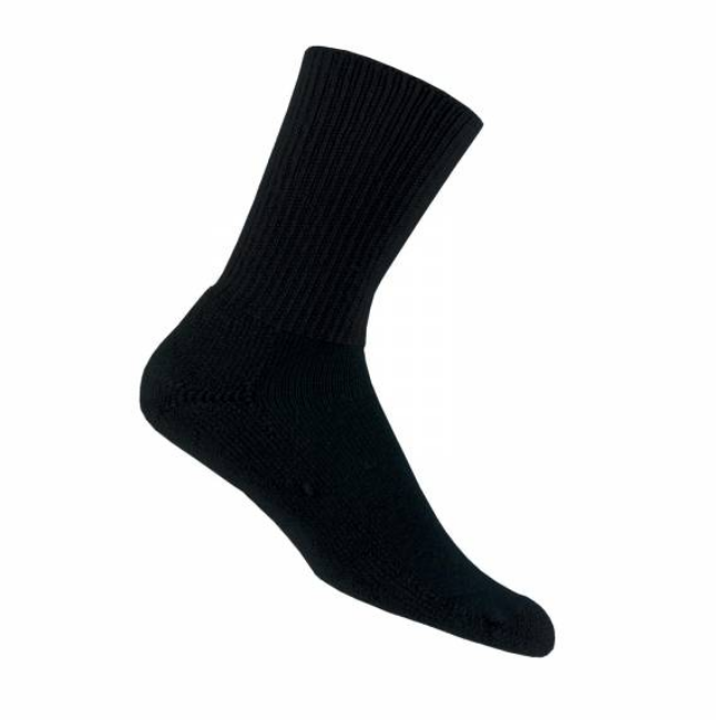 Thorlo Crew Socks Unisex Black