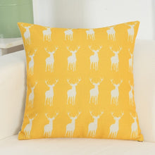 Load image into Gallery viewer, Nordic Style Cat\Deer Printed Pillow Cover