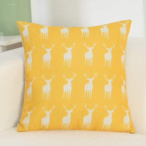 Nordic Style Cat\Deer Printed Pillow Cover