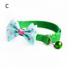 Load image into Gallery viewer, Adjustable Cat Collar With Bow Tie And Bell Charm