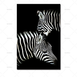 Black & White Animal Canvas Paintings