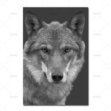 Load image into Gallery viewer, Black & White Animal Canvas Paintings