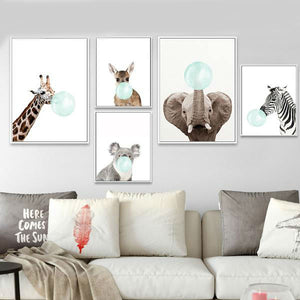 Cute Baby Animal Oil Paintings