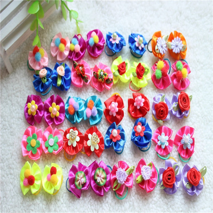 20 Pcs Festive Dog Hair Bows