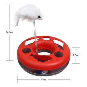 Mouse & Bell Ball Toy For Cats