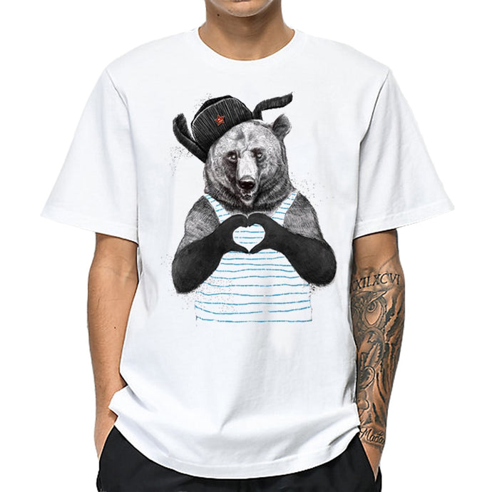 Cool Bear Showing Love Printed T-Shirt