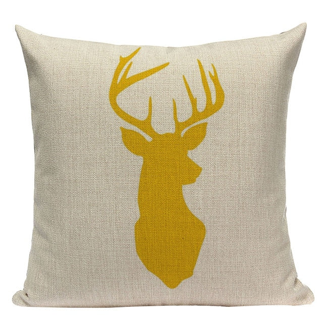 Nordic Style Deer Cushion Cover