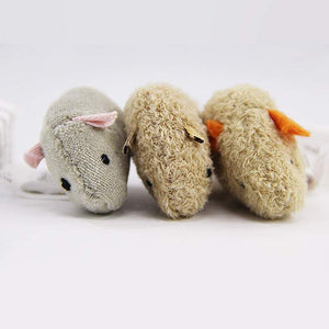 3 Pcs Squeaking Sound Mouse Toy