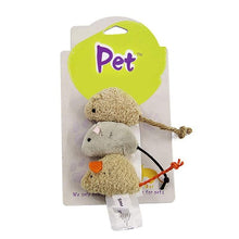 Load image into Gallery viewer, 3 Pcs Squeaking Sound Mouse Toy