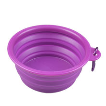 Load image into Gallery viewer, Folding, Portable Silicone Dog Bowl