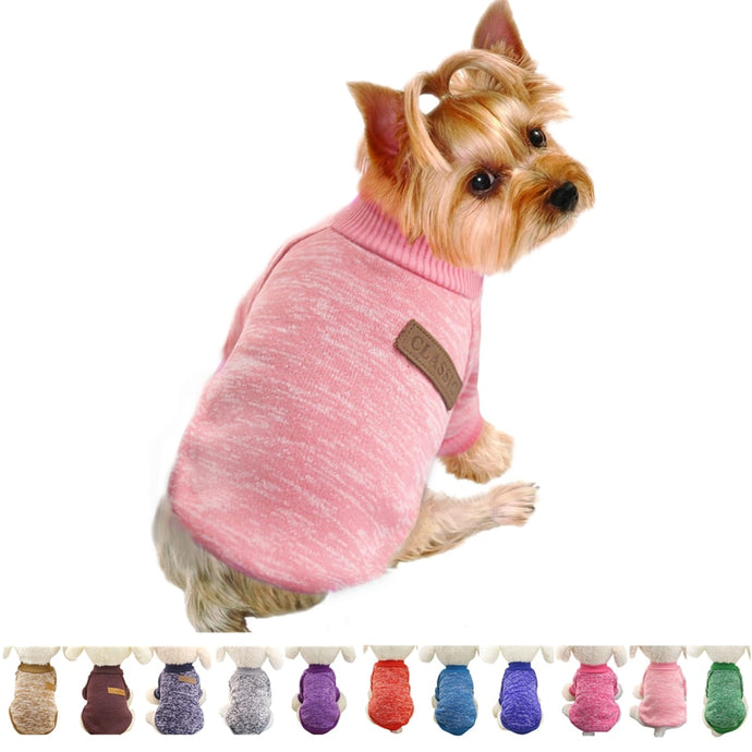 Dog Soft Sweater With A Pocket For Small Dogs