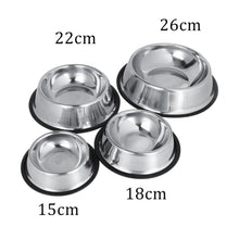 Load image into Gallery viewer, Stainless Silver Steel Feeding Bowl In 4 Sizes
