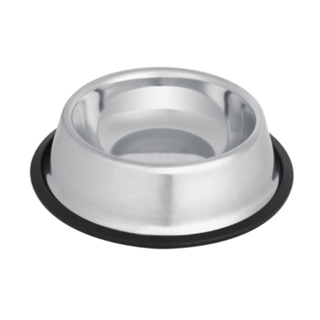 Stainless Silver Steel Feeding Bowl In 4 Sizes
